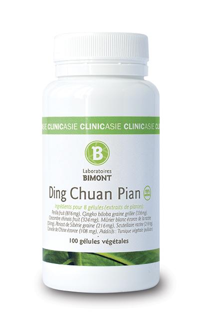 Complément alimentaire Ding Chguan Pian, formule de pharmacopée chinoise qui contribue à lutter contre les troubles respiratoires